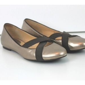 Cole Haan Nike Air Gold Leather Ballet Flat